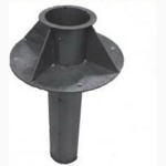 Узел прохода УП 1 Д 100 вентиляционных шахт через покрытия (без клапана, с кольцом)